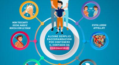 Alcune semplici raccomandazioni per contenere il contagio da Coronavirus